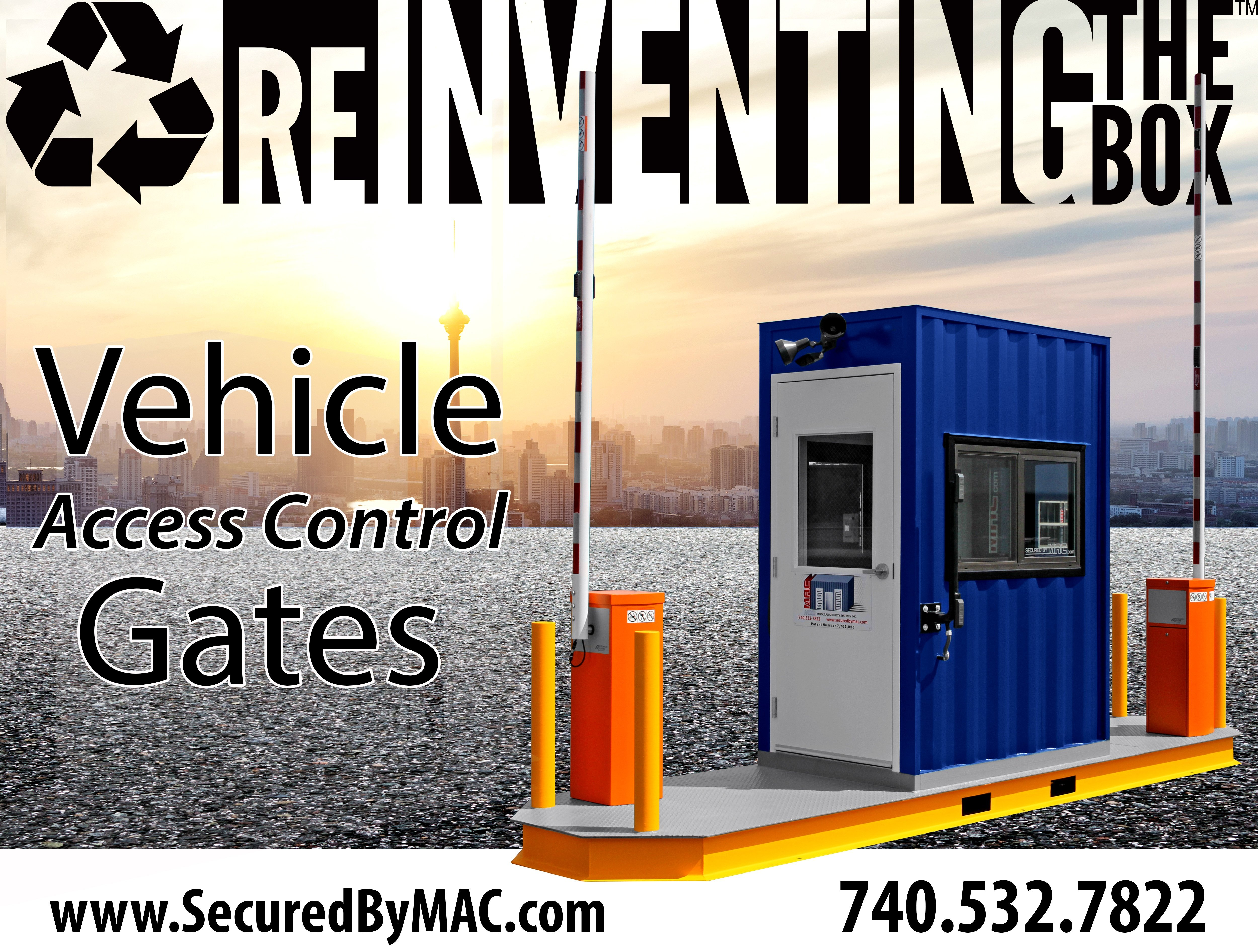MSSI, Modular Security Systems Inc, modular vehicle access control, portable vehicle access control, vehicle barrier arms, portable vehicle barrier arms, vehicle barrier arms in a guard house, vehicle barrier gate, VAC Portal