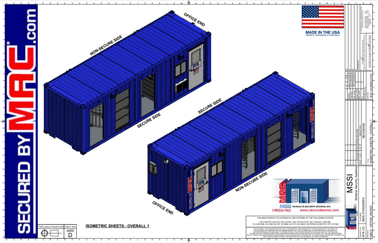 MAC-3 Office on End Sales Set of Drawings