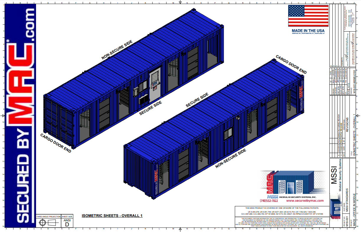 MAC-6 Office in the Middle Sales Set of Drawings