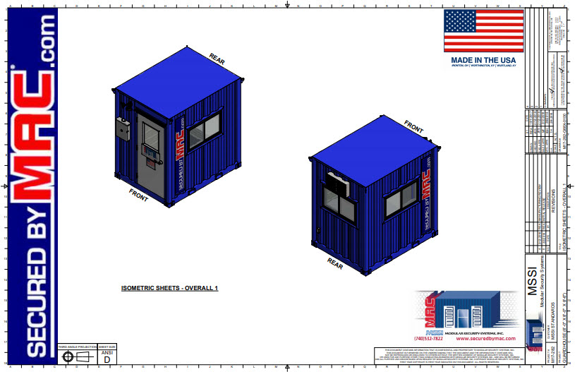 6 x 8 Guard House Sales Set of Drawings