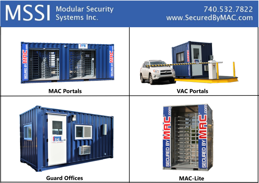 MSSI, Modular Security Systems, Turnstiles in a shipping container